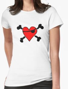 Pirate Heart (clear background) Womens Fitted T-Shirt