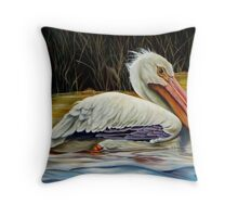 Pelican At East Pearl Throw Pillow