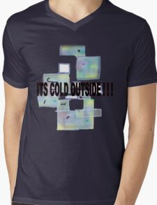 ICE CUBES/COLD OUTSIDE   TEE/BABY GROW/ STICKER Mens V-Neck T-Shirt