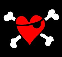 Pirate Heart (dark background) by Bela-Manson