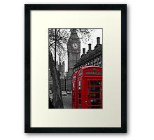 London - Red Framed Print