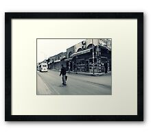 Closed shops... Framed Print
