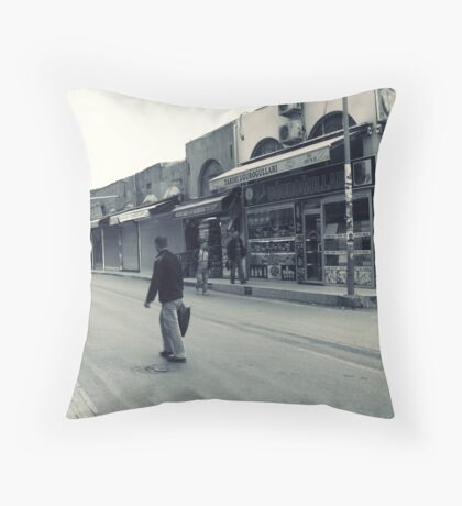 Closed shops... Throw Pillow