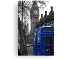 London - Blue Canvas Print