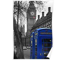 London - Blue Poster