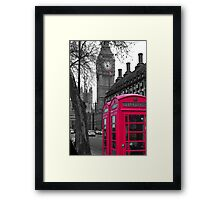 London - Pink Framed Print