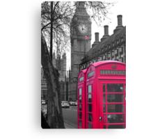 London - Pink Metal Print