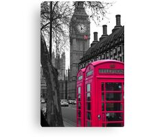 London - Pink Canvas Print