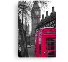 London - Pink Canvas Print
