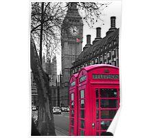 London - Pink Poster