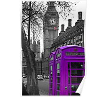 London - Purple Poster
