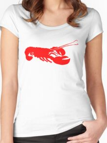 Lobster Outline Women's Fitted Scoop T-Shirt