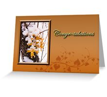 Congratulations Leaves Greeting Card
