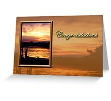 Congratulations Pier Greeting Card