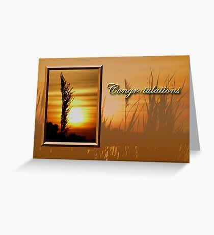 Congratulations Sunset Greeting Card