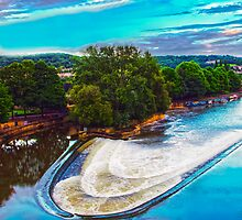 Bath - Avon Weir by Nick Field
