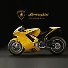 Lamborghini Caramela Italian Motorcycle iPhone by jlerner