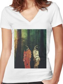 Lost # 1 Women's Fitted V-Neck T-Shirt