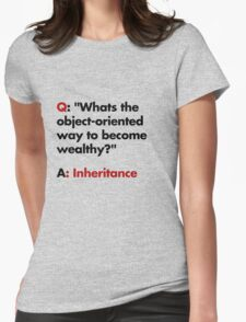 Whats the object-oriented way to become wealthy? Womens Fitted T-Shirt