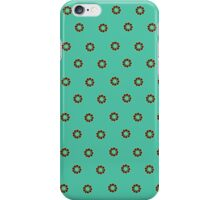 Little blossoms on turquoise green iPhone Case/Skin