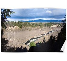 White River Valley Panorama Poster
