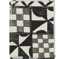 Abstract Tapa Cloth - Pacifica Pattern iPad Case/Skin
