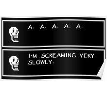 Undertale Papyrus Scream Poster