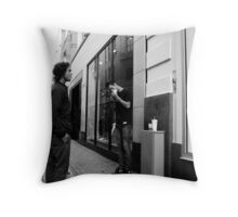 Let's have a smoke first Throw Pillow