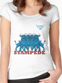 BLUE BULLS  STAMPEDE RUGBY Women's Fitted Scoop T-Shirt