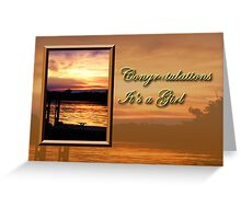 Congratulations It's A Girl Pier Greeting Card