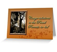 Congratulations To The Proud Parents To Be Willow Tree Greeting Card