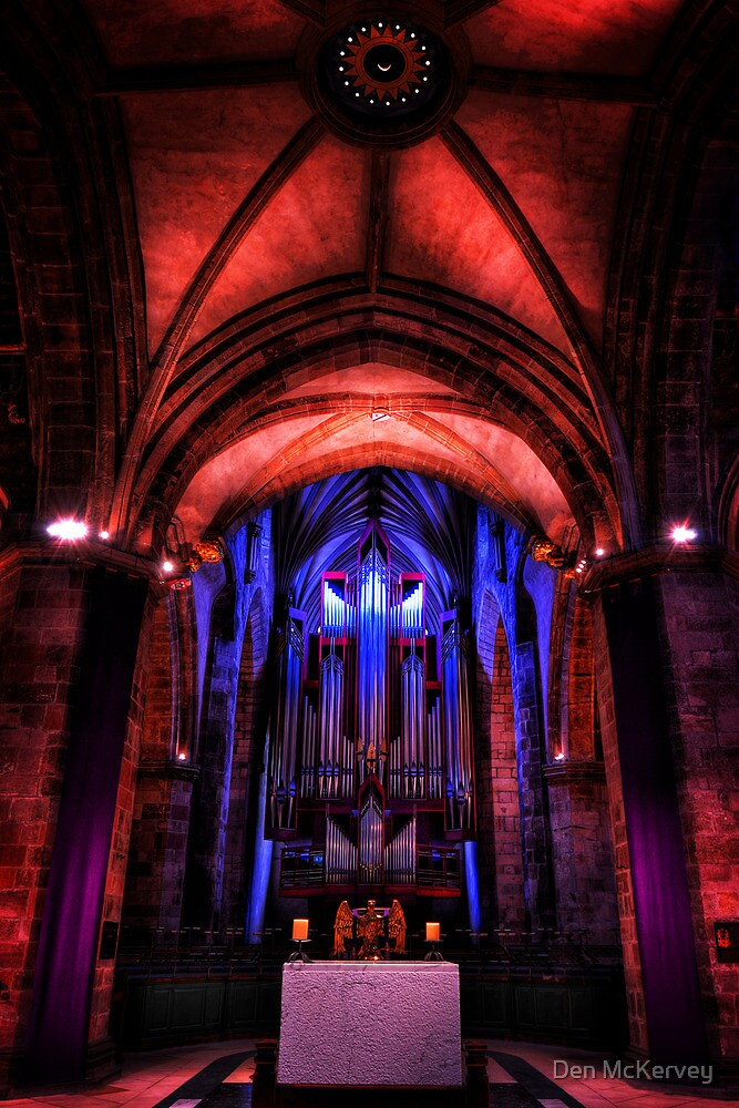 The Holy Table in St Giles' Cathedral, Edinburgh, Scotland #2 by Den McKervey