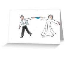 Wedding. Bride and Groom Greeting Card