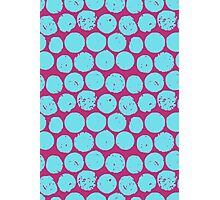 cork polka pink turquoise Photographic Print
