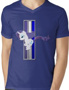 Mustang Rarity (Logo) Mens V-Neck T-Shirt