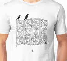 Birds on a screen Unisex T-Shirt
