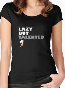 Lazy But Talented - Rainbow Dash Women's Fitted Scoop T-Shirt