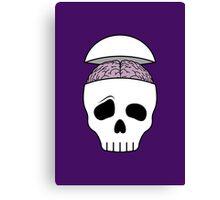 Brainy Skull Canvas Print
