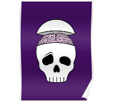 Brainy Skull Poster