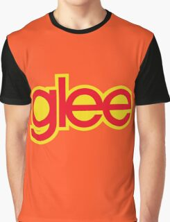 Glee logo - Red and yellow Graphic T-Shirt
