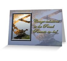 Congratulations To The Proud Parents To Be Fish Greeting Card