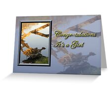 Congratulations It's A Girl Fish Greeting Card