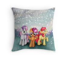 Cutie Mark Crusaders Winter Snow Throw Pillow