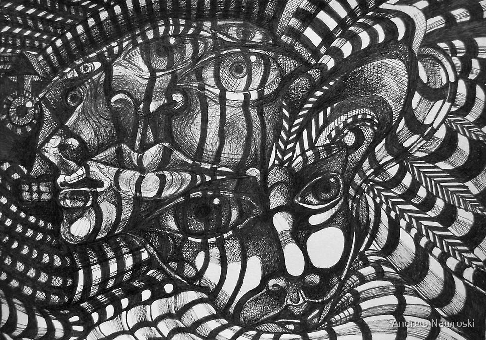 Portait Ink Study. by Andrew Nawroski