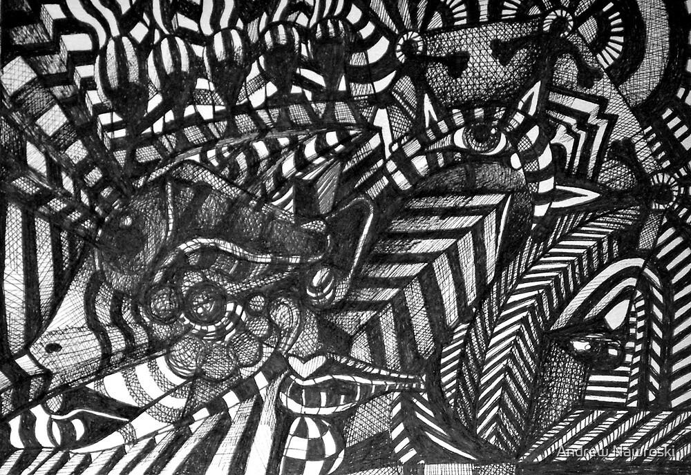 Portrait Ink Study 2. by Andreav Nawroski