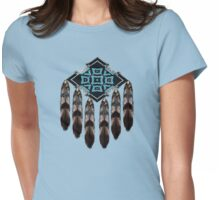 Indian Bead and Feather T-Shirt Womens Fitted T-Shirt