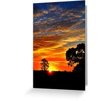 Sunset's Paintbrush Greeting Card