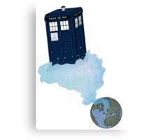Tardis leaves Earth Canvas Print