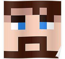 BlueXephos Minecraft skin - Yogscast Lewis face Poster