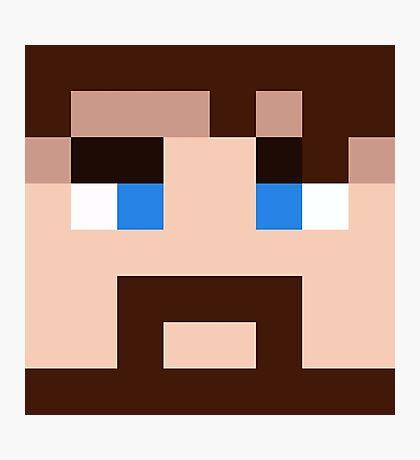 BlueXephos Minecraft skin - Yogscast Lewis face Photographic Print